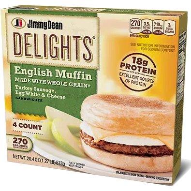 Jimmy Dean Turkey Sausage & Egg White Muffin thumbnail