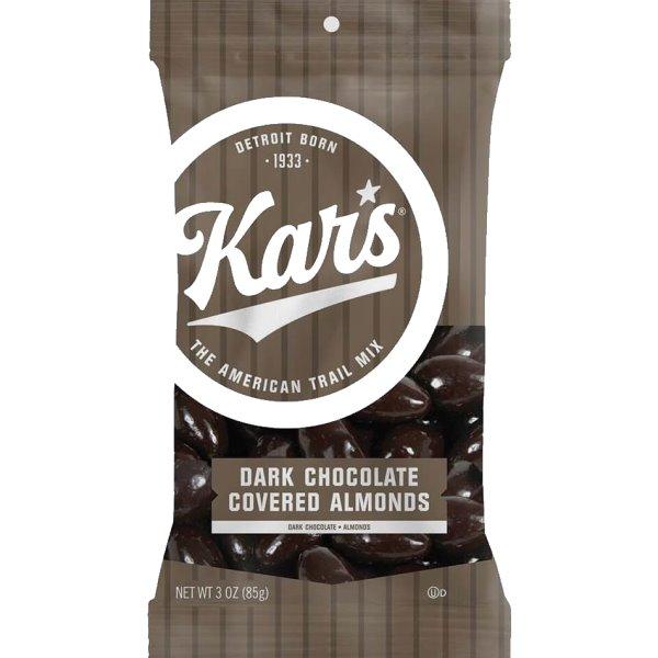 Kars Dark Chocolate Almonds 3oz thumbnail