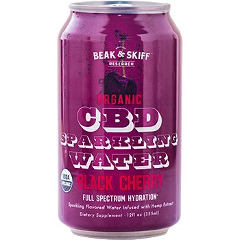 B&S CBD Sparkling Water Black Cherry thumbnail