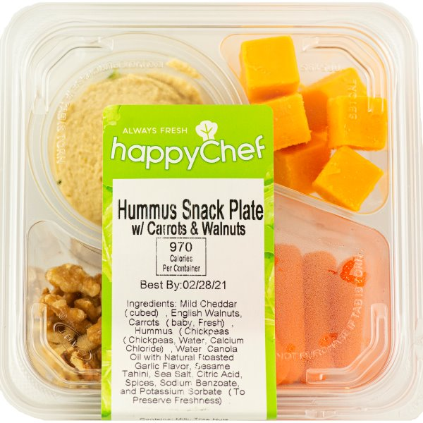 Queen City Hummus Snack Plate w/ Nuts, Carrots thumbnail