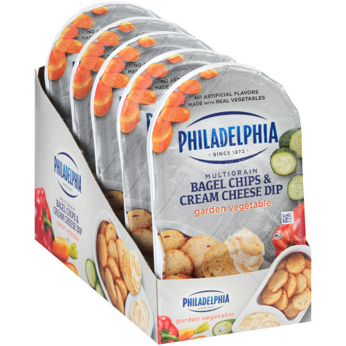 Philadelphia Bagel Chips & Garden Vegetable Cream Cheese thumbnail