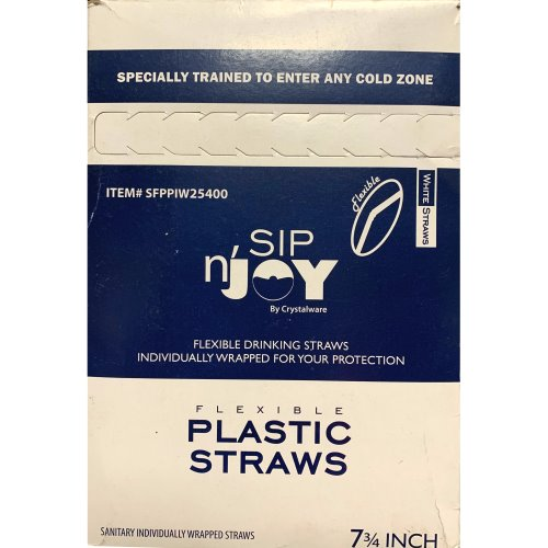 Sip N Joy Wrapped White Straws 380ct thumbnail
