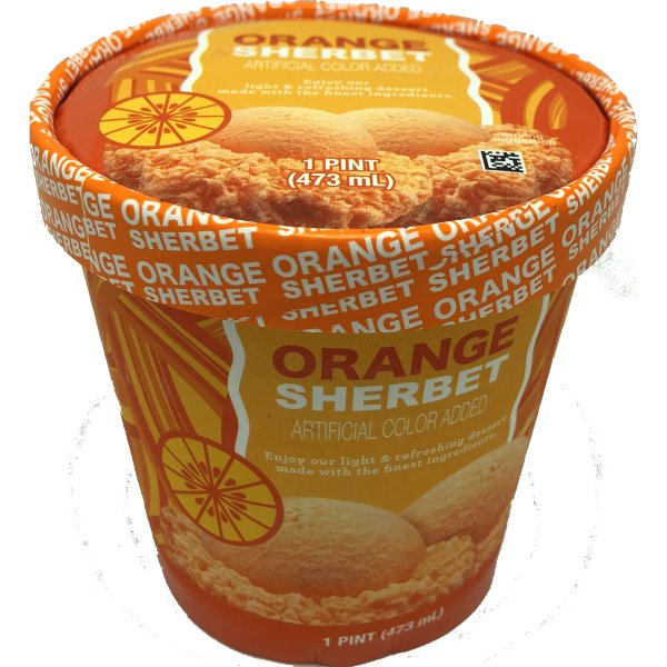 Orange Sherbet Pint 16oz thumbnail
