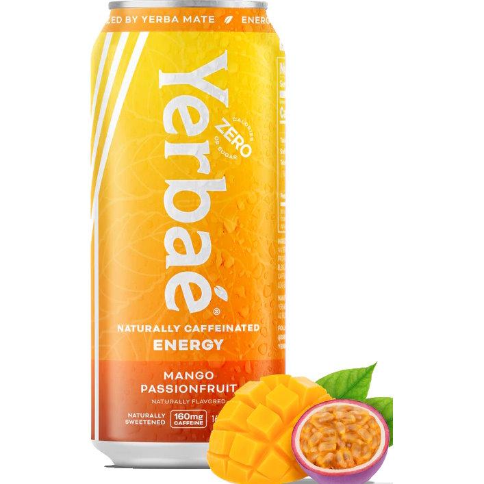 Yerbae Sparkling Energy Tea Mango Passionfruit 16oz thumbnail
