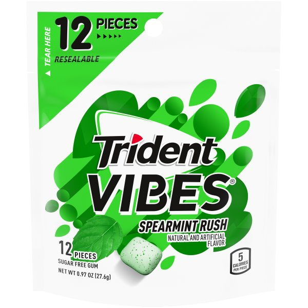 Trident Vibes Spearmint Rush Packet 12pc thumbnail