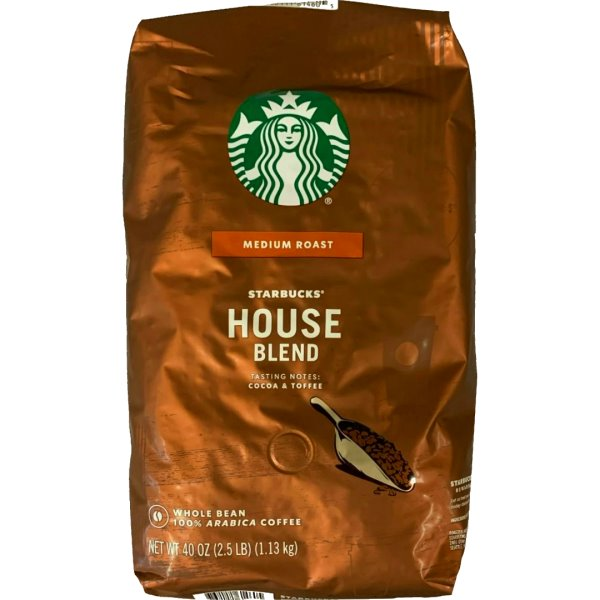 Starbucks Whole Bean House Blend 2.5lb thumbnail