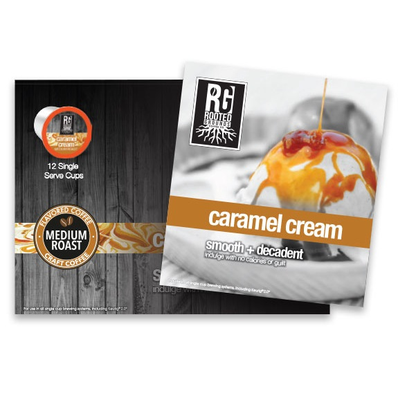 K-Cup Rooted Grounds Coffee Caramel Cream 12ct thumbnail